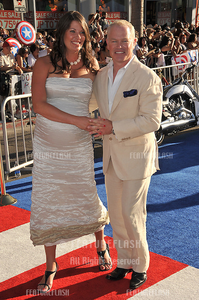 "Neal McDonough & wife Ruve McDonough at the premiere of his new movie ""Captain America: The First Avenger"" at the El Capitan Theatre, Hollywood..July 19, 2011  Los Angeles, CA.Picture: Paul Smith / Featureflash"
