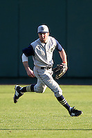 Outfielder Alex Robinson #32 of the Notre Dame Fighting Irish during the Big East-Big Ten Challenge vs. the Purdue Boilermakers at Al Lang Field in St. Petersburg, Florida;  February 19, 2011.  Notre Dame defeated Purdue 19-2.  Photo By Mike Janes/Four Seam Images