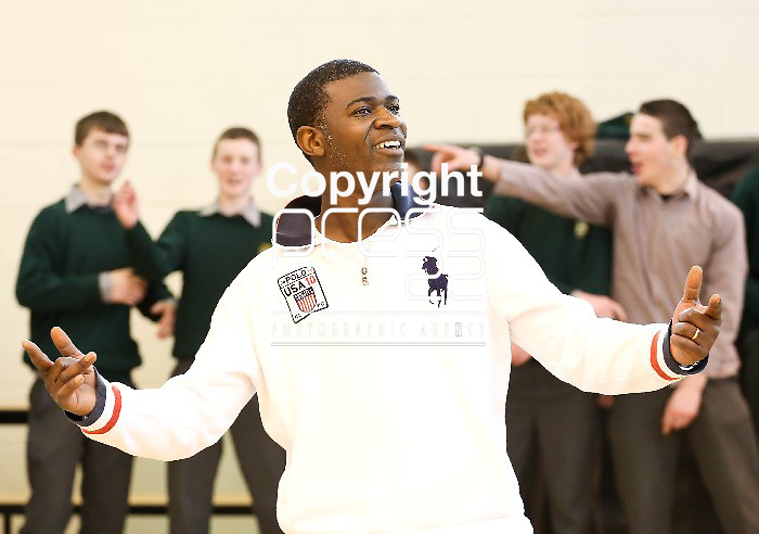 05.03.13  Tura (Cuthbert Alture) originally from Zimbabwe workshop in St Michael's Community College in Kilmihil as part of Seachtain na Gaeilge.  Pic. Alan Place / Press 22