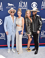 LAS VEGAS, CA - APRIL 07: (L-R) Chris Lucas of LOCASH, Kaitlyn Lucas, Kristen White and Preston Brust of LOCASH attend the 54th Academy Of Country Music Awards at MGM Grand Hotel &amp; Casino on April 07, 2019 in Las Vegas, Nevada.<br /> CAP/ROT/TM<br /> &copy;TM/ROT/Capital Pictures