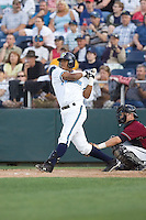 July 4, 2009: Everett AquaSox third baseman Mario Martinez at-bat during a Northwest League game against the Yakima Bears at Everett Memorial Stadium in Everett, Washington.