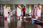Daily routine in the Mahasi Sasana Yeiktha centre: Meditation - Burmese nuns -  Thilashin