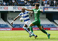 Preston North End's Callum Robinson competing with Queens Park Rangers' Bright Osayi-Samuel<br /> <br /> Photographer Andrew Kearns/CameraSport<br /> <br /> The EFL Sky Bet Championship - Queens Park Rangers v Preston North End - Loftus Road - London<br /> <br /> World Copyright &copy; 2018 CameraSport. All rights reserved. 43 Linden Ave. Countesthorpe. Leicester. England. LE8 5PG - Tel: +44 (0) 116 277 4147 - admin@camerasport.com - www.camerasport.com