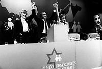 FILE PHOTO -   Ed Broadbent<br /> <br /> <br /> Congres du Nouveau Parti Democratique du Canada, le 15 mars 1987.<br /> <br /> <br /> Photo  :  Denis Alix - Agence Quebec Presse