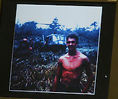 A photo of sniper victim Dean H. Meyers is displayed on a screen during the penatly phase of the trial of convicted sniper John Allen Muhammad in Virginia Beach Circuit Court in Virginia Beach, Virginia on November 19, 2003. Now in the punishment phase of the trial, the jury can only choose execution or life in prison without parole for Muhammad, who was found guilty Monday, November 17, 2003 of all charges, including two capital murder counts, in one of 10 fatal shootings that terrorized the Washington, D.C., area in 2002. <br /> Credit: Tracy Woodward - Pool via CNP