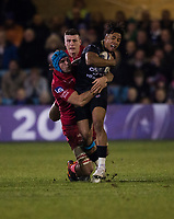 Bath Rugby's Anthony Watson in action during todays match<br /> <br /> Photographer Bob Bradford/CameraSport<br /> <br /> European Champions Cup Round 5 - Bath Rugby v Scarlets - Friday 12th January 2018 - The Recreation Ground - Bath<br /> <br /> World Copyright &copy; 2018 CameraSport. All rights reserved. 43 Linden Ave. Countesthorpe. Leicester. England. LE8 5PG - Tel: +44 (0) 116 277 4147 - admin@camerasport.com - www.camerasport.com