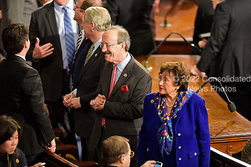 United States Representatives Steve Israel, Eliot Engel, and Nita Lowey, all Democrats of New York on the floor of the House prior to Prime Minister Benjamin Netanyahu of Israel delivering an address to a joint session of the United States Congress in the U.S. Capitol in Washington, D.C. on Tuesday, March 3, 2015.<br /> Credit: Ron Sachs / CNP<br /> (RESTRICTION: NO New York or New Jersey Newspapers or newspapers within a 75 mile radius of New York City)