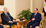 Egyptian President Abdel Fattah al-Sisi meets with Ronald S. Lauder, President of the World Jewish Congress, in Cairo, Egypt, on October 17, 2017. Photo by Egyptian President Office