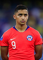 PEREIRA, COLOMBIA - JANUARY 18: Chile's Nicolas Guerra during their CONMEBOL Preolimpico soccer game against Ecuador at the Hernan Ramirez Villegas Stadium on January 18, 2020 in Pereira, Colombia. (Photo by Daniel Munoz/VIEW press/Getty Images)