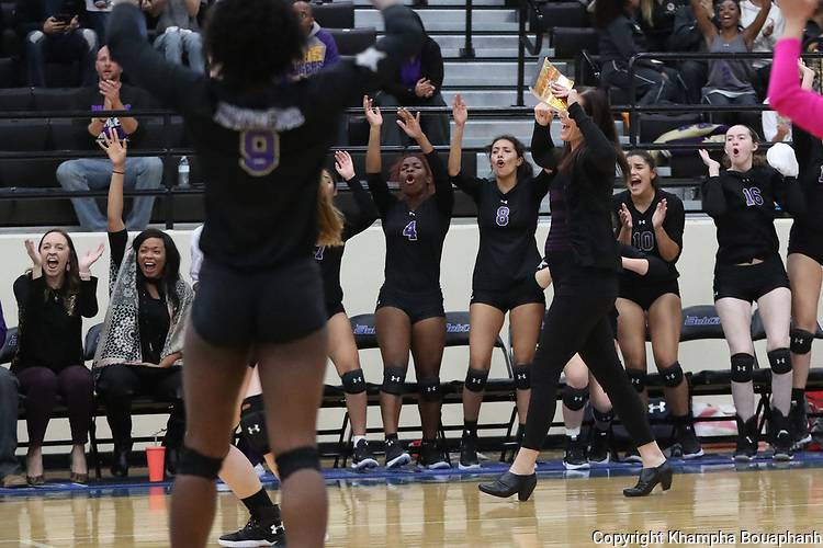 Chisholm Trail beats Denton Ryan 3-2 in 5A bi-district volleyball playoffs at Byron Nelson High School in Trophy Club on Tuesday, October 31, 2017. (photo by Khampha Bouaphanh)