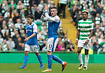 Celtic v St Johnstone &hellip;26.08.17&hellip; Celtic Park&hellip; SPFL<br />Michael O&rsquo;Halloran applauds the saints fans as he is subbed<br />Picture by Graeme Hart.<br />Copyright Perthshire Picture Agency<br />Tel: 01738 623350  Mobile: 07990 594431