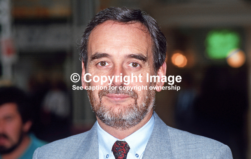 Tom Sawyer, deputy general secretary, NUPE, National Union of Public Employees, trade union, UK, 19870917TS.<br />