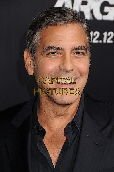 George Clooney.'Argo' Los Angeles premiere held at the AMPAS Samuel Goldwyn Theater, Beverly Hills, California USA, .4th October 2012..portrait headshot black shirt smiling .CAP/ADM/BP.©Byron Purvis/AdMedia/Capital Pictures.