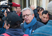 September 21 2017, PARIS FRANCE<br /> Demonstration against the Reform of<br /> Labour Law organized by the CGT Union<br /> whose leader is Philippe Martinez. The national secretary of the Communist Party<br /> Pierre Laurent was also present. # MANIFESTATION CONTRE LA LOI TRAVAIL EN FRANCE ANTI