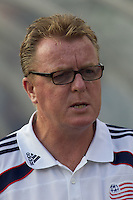 New England Revolution head coach Steve Nicol. The New England Revolution defeated Puebla FC in penalty kicks, in SuperLiga 2010 semifinal at Gillette Stadium on August 4, 2010.