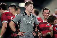 Jordie Barrett during the Game of Three Halves between the NZ All Blacks and Canterbury at AMI Stadium in Christchurch, New Zealand on Friday, 10 August 2018. Photo: Martin Hunter / lintottphoto.co.nzz