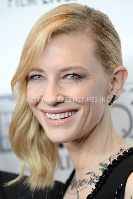 WWW.ACEPIXS.COM<br /> October 9, 2015 New York City<br /> <br /> Cate Blanchett attending arrivals for the 53rd New York Film Festival premiere of 'Carol' at Alice Tully Hall on October 9, 2015 in New York City.<br /> <br /> Credit: Kristin Callahan/ACE<br /> Tel: (646) 769 0430<br /> e-mail: info@acepixs.com<br /> web: http://www.acepixs.com