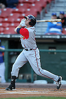 Gwinnett Braves second baseman Drew Sutton #4 during a game against the Buffalo Bisons at Coca-Cola Field on May 17, 2012 in Buffalo, New York.  Buffalo defeated Gwinnett 4-2.  (Mike Janes/Four Seam Images)