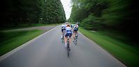 Adam Hansen (AUS) descending<br /> <br /> 2013 Ster ZLM Tour <br /> stage 4: Verviers - La Gileppe (186km)