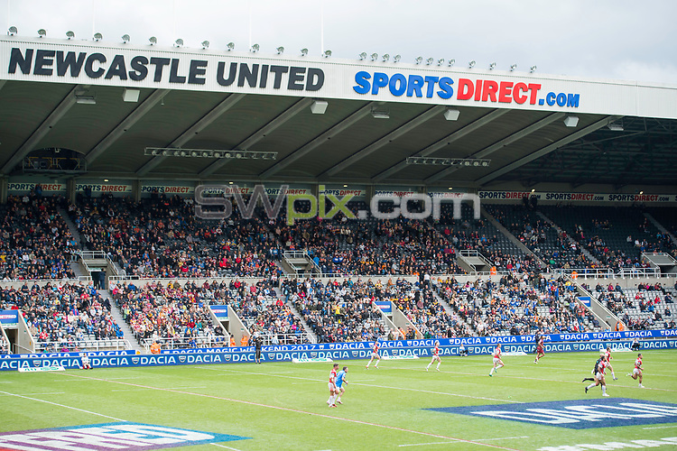 Picture by Allan McKenzie/SWpix.com - 21/05/2017 - Rugby League - Dacia Magic Weekend - St James' Park, Newcastle, England - The Brief, Dacia, branding, fans, supporters.