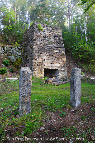 Stone lime kiln off the Chippewa Trail near Black Mountain in Haverhill, New Hampshire  USA during the summer months.