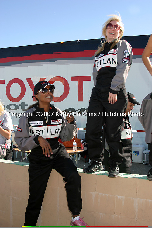 Aisha Tyler & Emily Procter.2007 Toyota Pro/Celebrity Race Training.Danny McKeever's Fast Lane Racing School.Willow Springs Race Track.Willow Springs, CA  .March 17, 2007.©2007 Kathy Hutchins / Hutchins Photo....