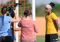 Houston, TX - Friday Oct. 07, 2016: Jessica McDonald during training prior to the National Women's Soccer League (NWSL) Championship match between the Washington Spirit and the Western New York Flash at BBVA Compass Stadium.