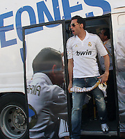 32.05.2012 SPAIN - 2012 Spain Festival celebration champion Real Madrid La Liga 32nd May 03rd. The picture show  Alvaro Arbeloa Coca (Spanish defender of Real Madrid)