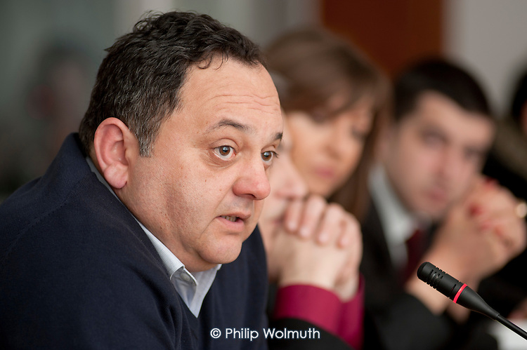 Nugzar Tchintcharauli, Chair of the Public Services Trade Union of Georgia, EPSU Eastern Region meeting in Tbilisi.
