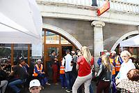 KFC am Platz Manedhznaya in Moskau - 20.06.2018: Sightseeing Moskau