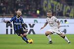 Radja Nainggolan of Cagliari takes on Borja Valero of Inter during the Coppa Italia match at Giuseppe Meazza, Milan. Picture date: 14th January 2020. Picture credit should read: Jonathan Moscrop/Sportimage