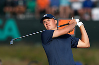 Jordan Spieth (USA) tees off on the 17th hole during the second round of the 118th U.S. Open Championship at Shinnecock Hills Golf Club in Southampton, NY, USA. 15th June 2018.<br /> Picture: Golffile | Brian Spurlock<br /> <br /> <br /> All photo usage must carry mandatory copyright credit (&copy; Golffile | Brian Spurlock)