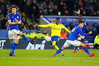 4th March 2020; King Power Stadium, Leicester, Midlands, England; English FA Cup Football, Leicester City versus Birmingham City; Wes Harding of Birmingham City shoots