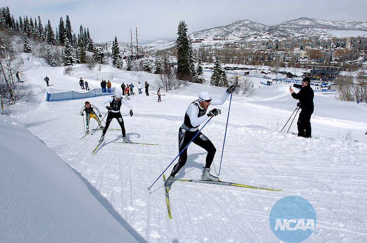 11 MAR 2006: Kit Richmond of the University of Colorado - Boulder climbs late in the race during the Men's 20K Freestyle Cross Country event at the 2006 NCAA Men and Women's Skiing Championships held at Howelsen Hill in Steamboat Springs, CO, hosted by the University of Colorado - Boulder. Richmond placed 1st in the event to win the national title.  Brett Wilhelm/NCAA Photos