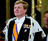 "30.04.2013; Amsterdam: KING WILLEM-ALEXANDER AND QUEEN MAXIMA.King Willem-Alexander takes the oath next to his wife Queen Maxima at Nieuwe Kerk, Amsterdam, The Netherlands, during the inauguration ceremony..Mandatory Credit Photos: ©Utrecht/NEWSPIX INTERNATIONAL..**ALL FEES PAYABLE TO: ""NEWSPIX INTERNATIONAL""**..PHOTO CREDIT MANDATORY!!: NEWSPIX INTERNATIONAL(Failure to credit will incur a surcharge of 100% of reproduction fees)..IMMEDIATE CONFIRMATION OF USAGE REQUIRED:.Newspix International, 31 Chinnery Hill, Bishop's Stortford, ENGLAND CM23 3PS.Tel:+441279 324672  ; Fax: +441279656877.Mobile:  0777568 1153.e-mail: info@newspixinternational.co.uk"