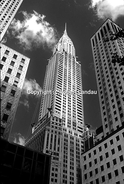 The Art Deco Chrysler Building in New York City