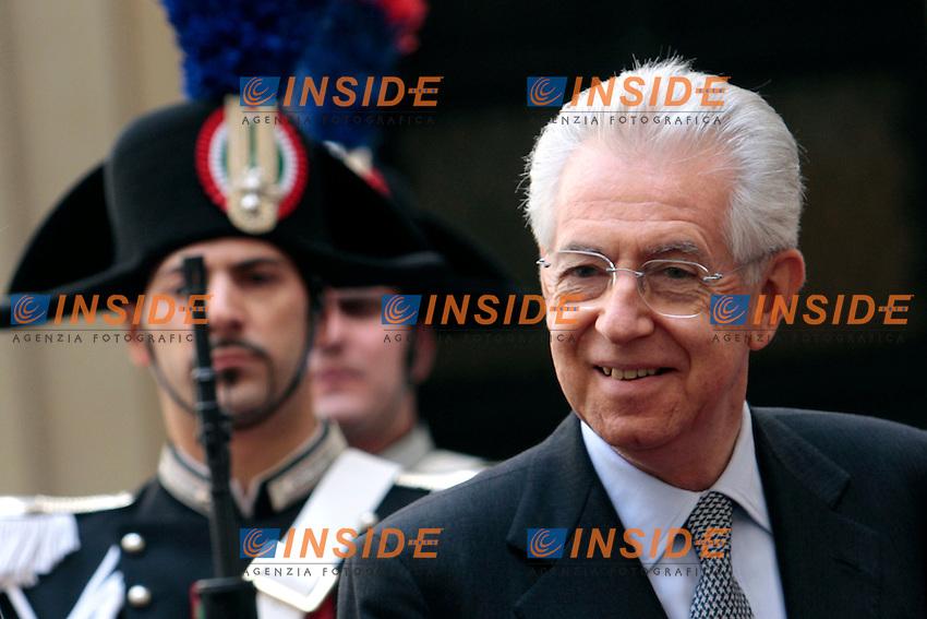 Mario Monti.Roma 17/04/2012 Palazzo Chigi. Incontro tra il Premier Italiano ed il Primo Ministro della Finlandia..Italian premier meets the Premier of Finland..Photo Samantha Zucchi Insidefoto