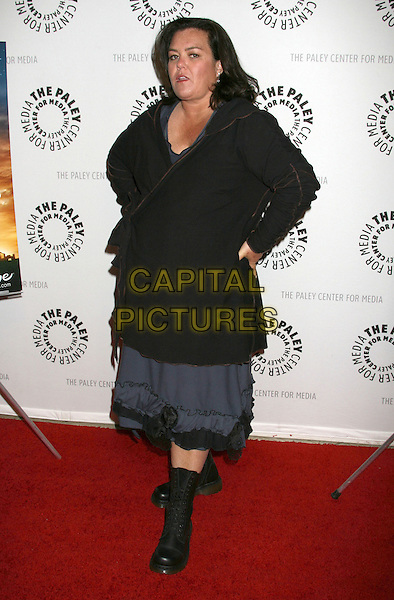 "ROSIE O'DONNELL .Premieres ""America"" a Lifetime Original movie held at the Paley Center for Media, Beverly Hills, California, USA, 24th February 2009..full length black coat grey gray dress dms dm's doc martens boots hands on hips .CAP/ADM/MJ.©Michael Jade/Admedia/Capital Pictures"