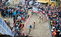 Superprestige Zonhoven 2013<br /> <br /> Klaas Vantornout (BEL) coming out of 'The Pit' first