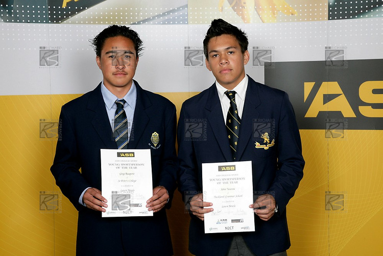 Lawn Bowls Boys Finalists. ASB College Sport Young Sportsperson of the Year Awards 2006, held at Eden Park on Thursday 16th of November 2006.<br />