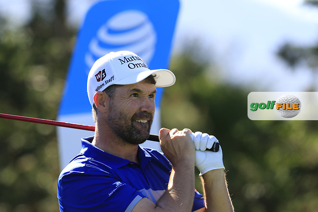 Padraig Harrington (IRL) tees off the 13th tee at Pebble Beach course during Friday's Round 2 of the 2018 AT&amp;T Pebble Beach Pro-Am, held over 3 courses Pebble Beach, Spyglass Hill and Monterey, California, USA. 9th February 2018.<br /> Picture: Eoin Clarke | Golffile<br /> <br /> <br /> All photos usage must carry mandatory copyright credit (&copy; Golffile | Eoin Clarke)