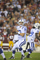17 October 2010:  Colts QB Peyton Manning (18)..The Indianapolis Colts defeated the Washington Redskins 27-24 at FedEx Field in Landover, MD.