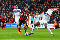 Kurt Zouma of Stoke City right just gets to the ball when Callum Wilson of AFC Bournemouth was clear on goal during AFC Bournemouth vs Stoke City, Premier League Football at the Vitality Stadium on 3rd February 2018