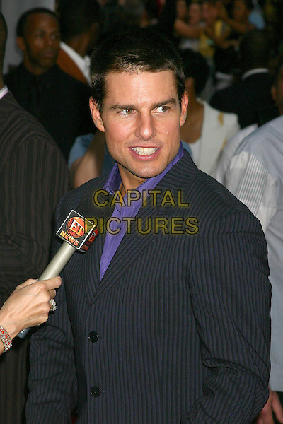 "TOM CRUISE.""Collateral"" Premiere - New York - Arrivals.New York City, New York .August 4, 2004.headshot, portrait, pinstripe.www.capitalpictures.com.sales@capitalpictures.com.©Capital Pictures"