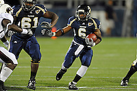 6 November 2010:  FIU running back Jeremiah Harden (6) carries the ball in the first quarter as the FIU Golden Panthers defeated the University of Louisiana-Monroe Warhawks, 42-35 in double overtime, at FIU Stadium in Miami, Florida.