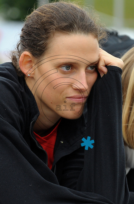 DKB EM Europameisterschaft Moderner Fünfkampf in Leipzig - Qualifikation - im Bild: Lena Schöneborn verfolgt das Geschehen am Schiessstand . Foto: Norman Rembarz..