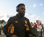 8th September 2017, Pride Park Stadium, Derby, England; EFL Championship football, Derby County versus Hull City; Noah Dicko of Hull City arriving at Pride Park Stadium before the match