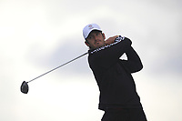 David Langley from England on the 5th tee during Round 3 Singles of the Men's Home Internationals 2018 at Conwy Golf Club, Conwy, Wales on Friday 14th September 2018.<br /> Picture: Thos Caffrey / Golffile<br /> <br /> All photo usage must carry mandatory copyright credit (&copy; Golffile | Thos Caffrey)