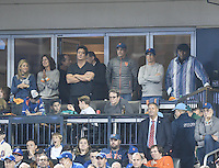 NEW YORK, NY - OCTOBER 05: Jerry Seinfeld ,Jessica Seinfld, Matthew Broderick attends 2016 MLB Wild Card Series between the San Francisco Giants and the New York Mets at Citi Field October 5, 2016 in Queens, New York . @John Palmer / Media Punch