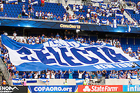 El Salvador Tifo during a CONCACAF Gold Cup group B match at Red Bull Arena in Harrison, NJ, on July 8, 2013.